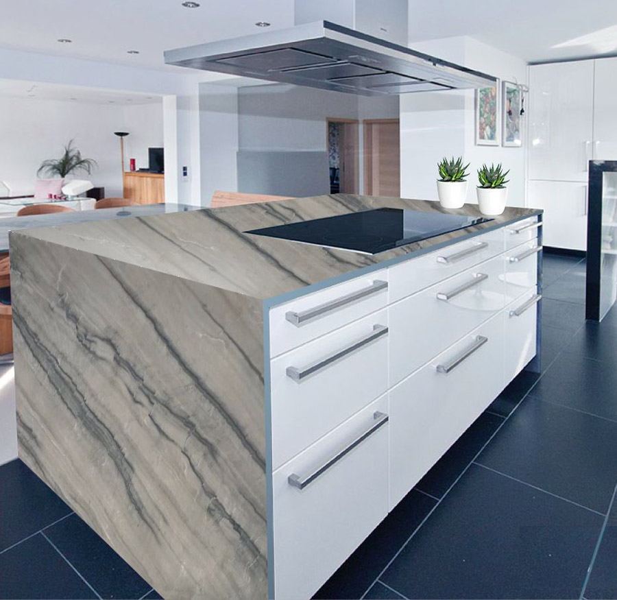 Calacatta Botticelli Quartzite Kitchen Countertop