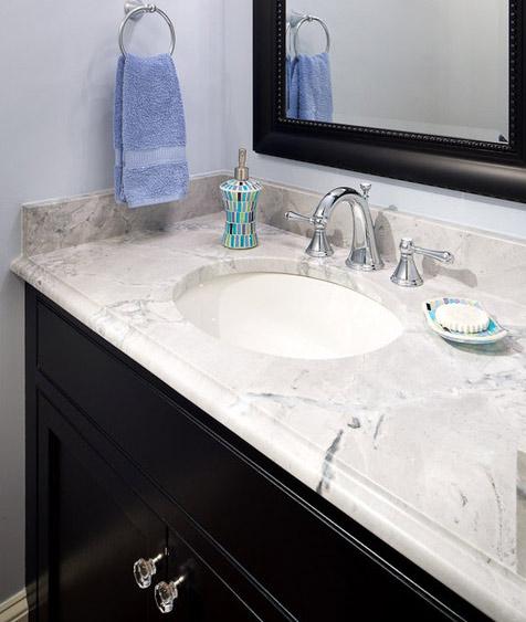 Super White Quartzite Vanity Tops