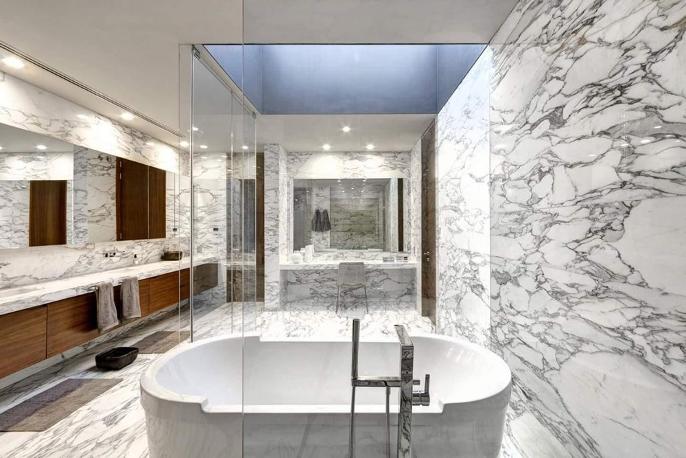 Arabescato Marble Bathroom Stoneadd Photo