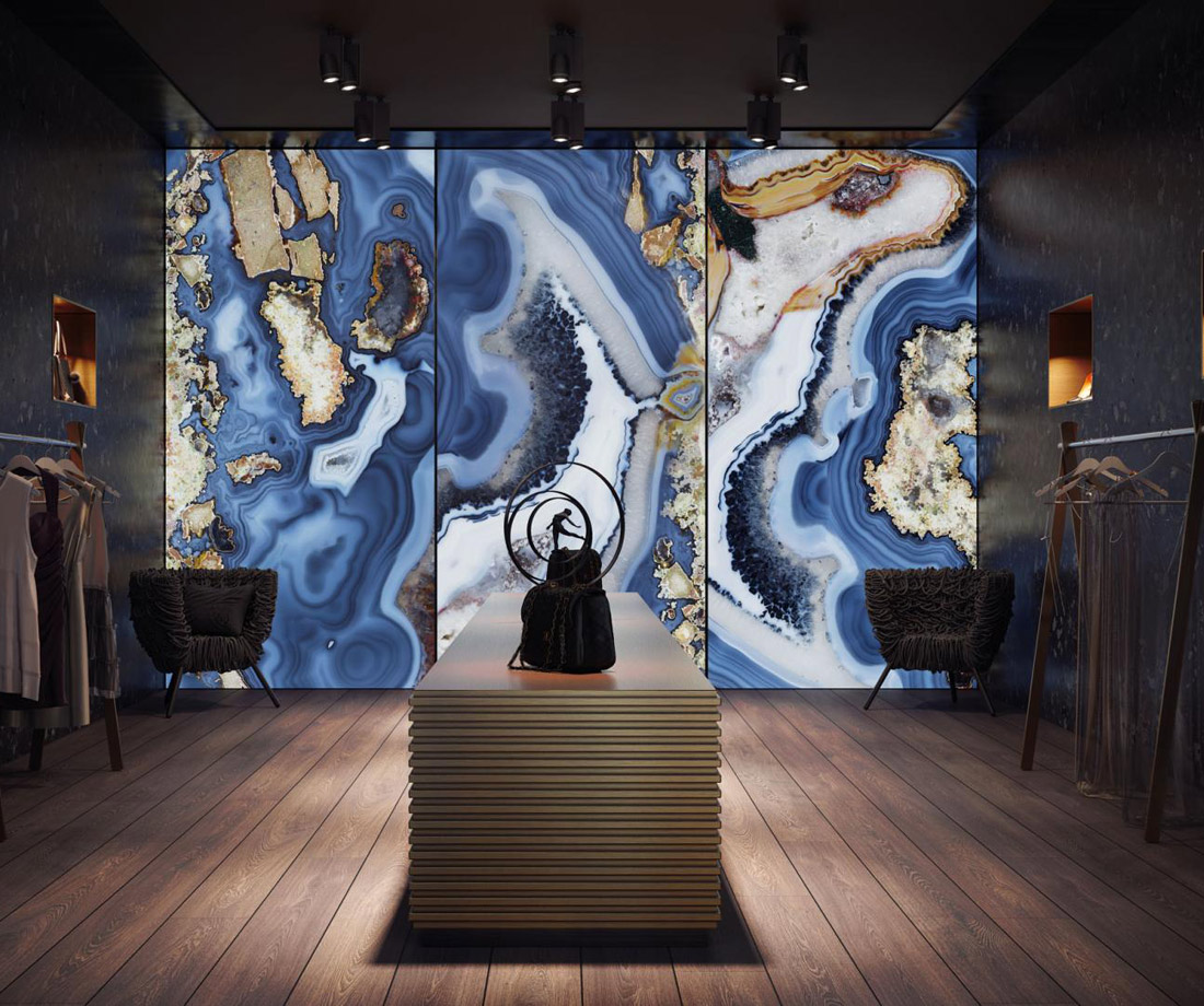 Blue Onyx Wall Panel