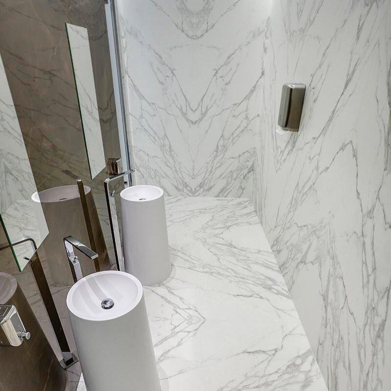 Calacatta Silk Marble Bathroom