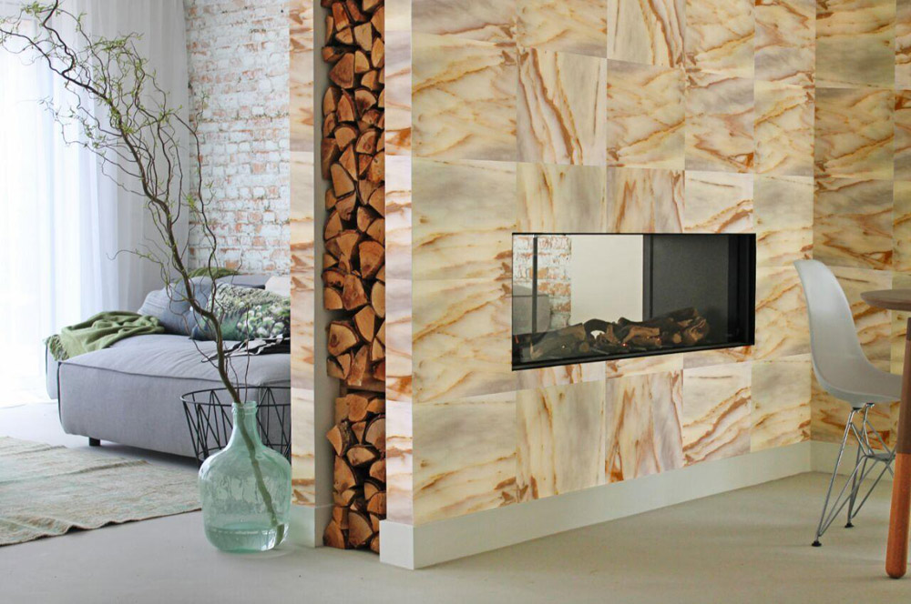 Marble Wall Paneling : Marble tv wall panel stoneadd photo
