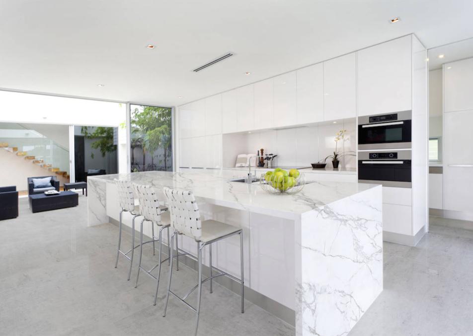 Quartz Stone Kitchen Island Countertop