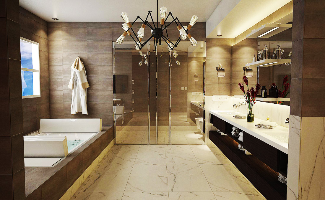 White Marble Bathroom Flooring