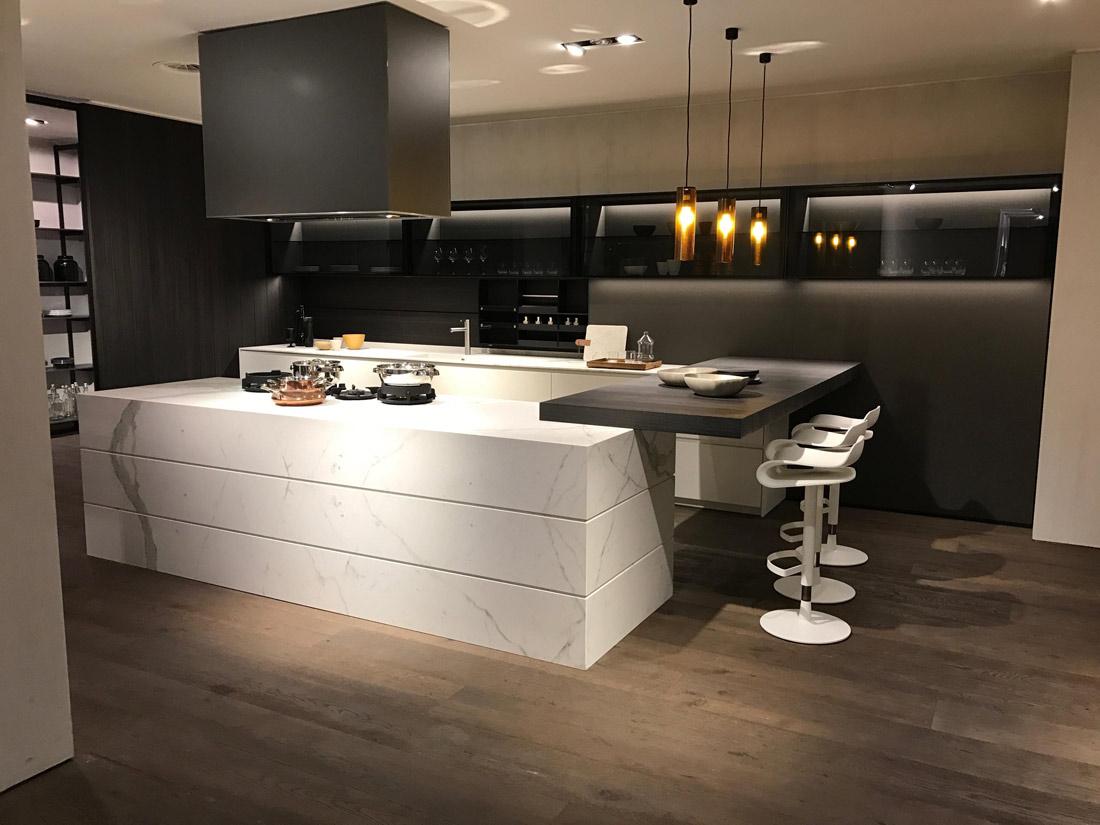 White Marble Kitchen Tops