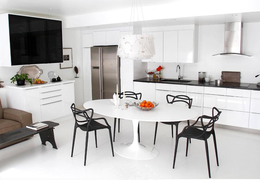 White Quartz Stone Table Tops
