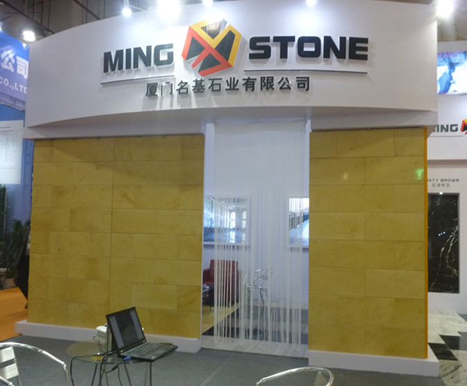 We are in stone trade show