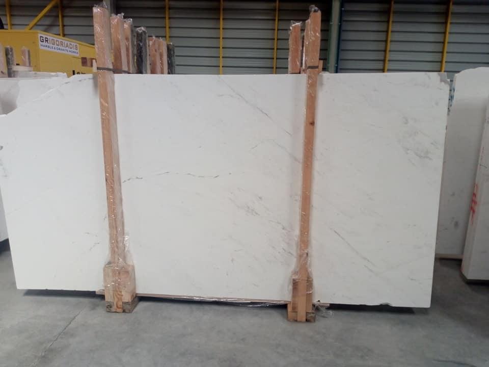 Kyknos White Marble Slabs