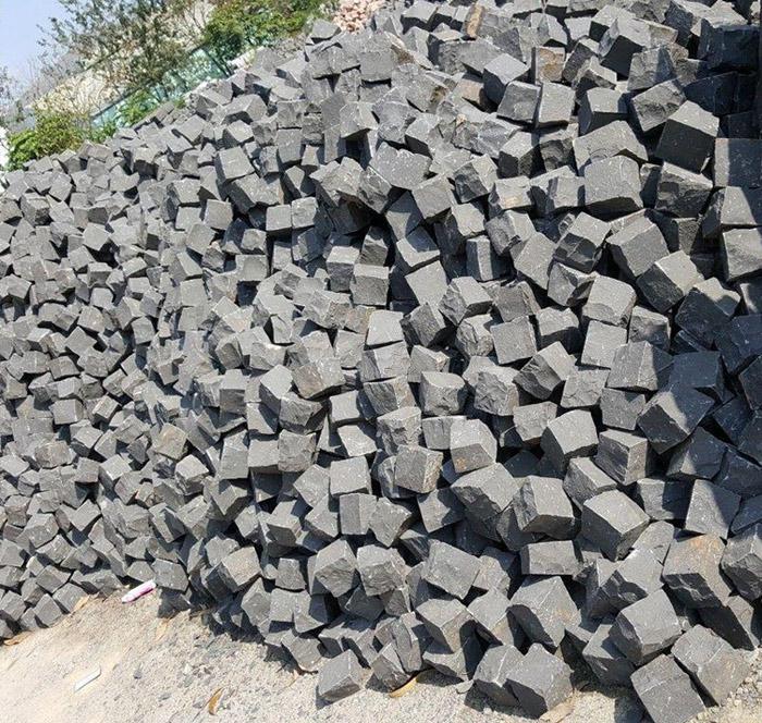 Black Basalt Cube Stones