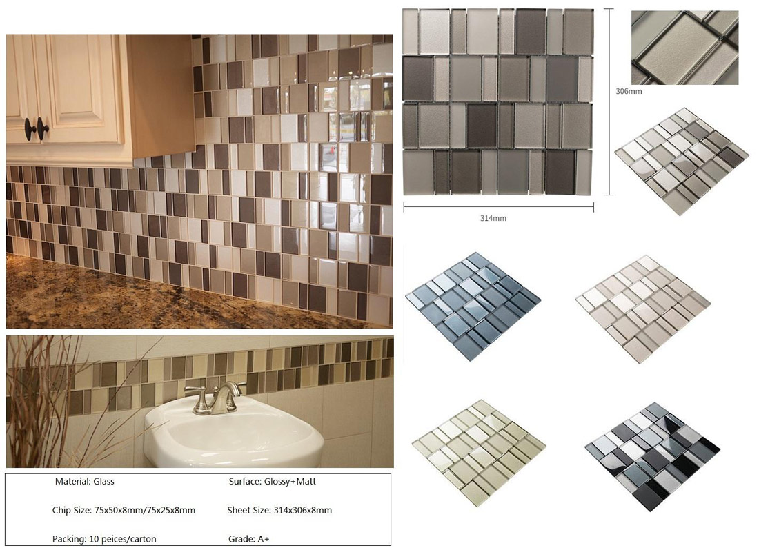 Glass Mosaics for Bathroom