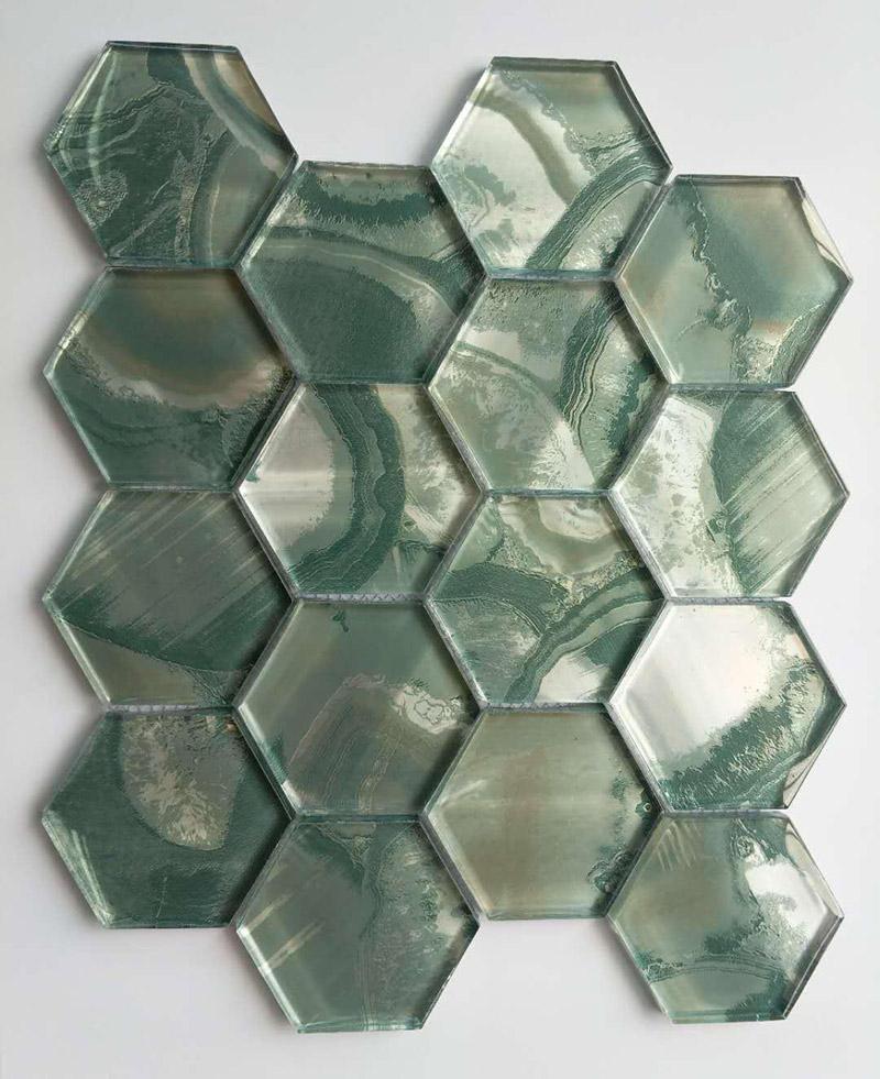 Green Galss Mosaic Tiles