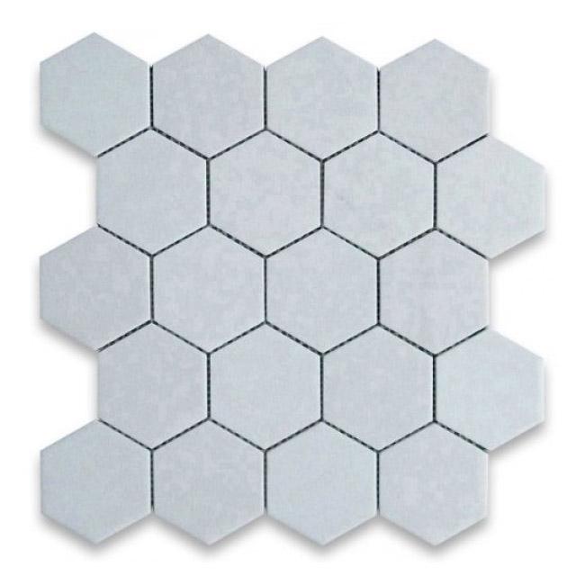 Thassos White Marble Mosaic Tiles 600x600