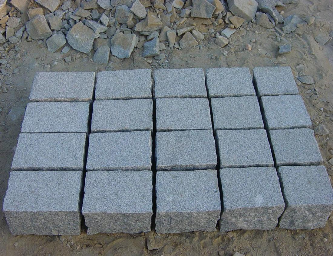 Bushhammered Grey Granite Paving Stones