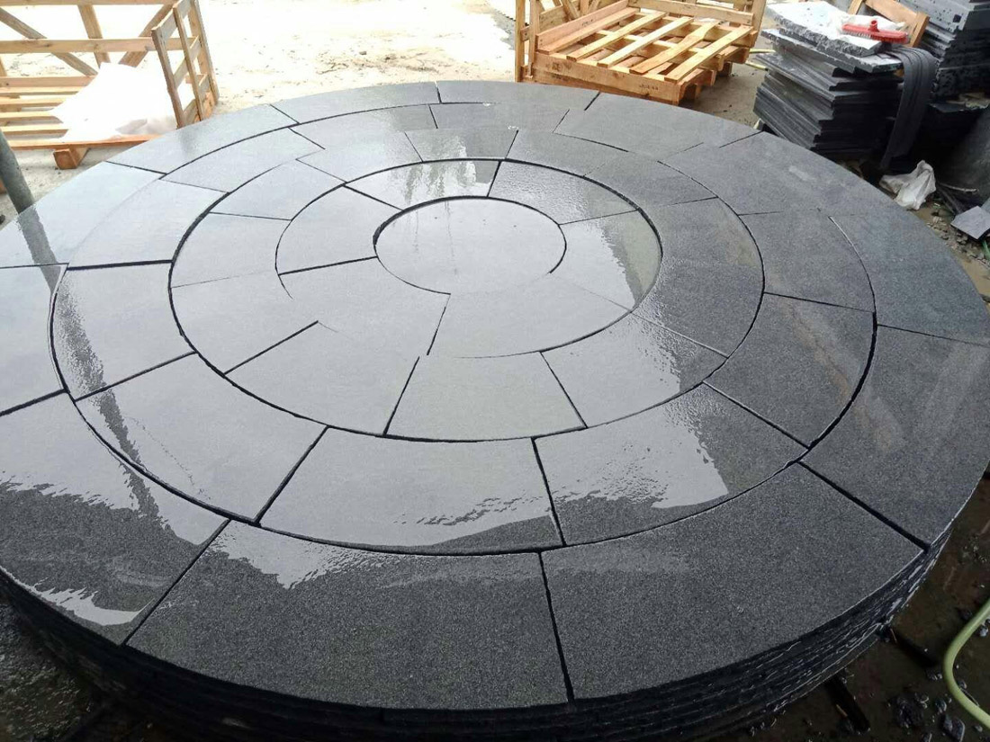 G684 Black Pearl Granite Patio Paving Tiles