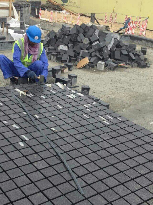 Chinese G778 Black Basalt Cube Stone Project