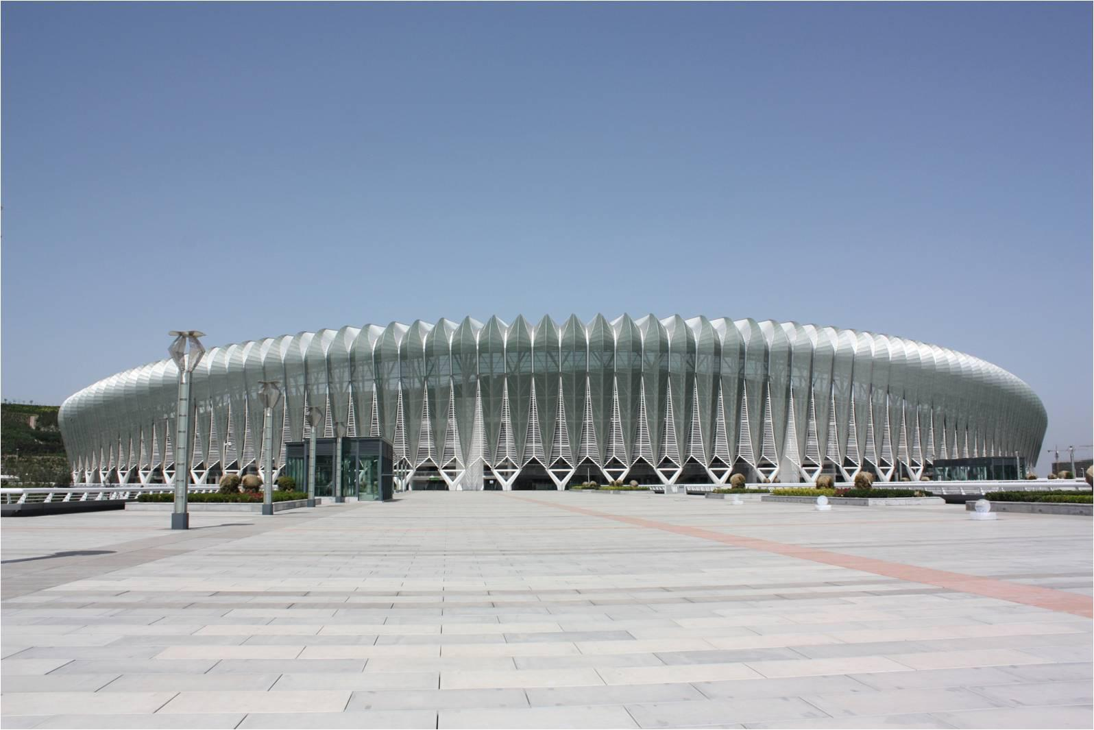 Yantai city outside the stadium