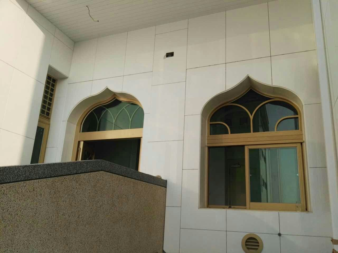 The mosque construction with microcrystal stone
