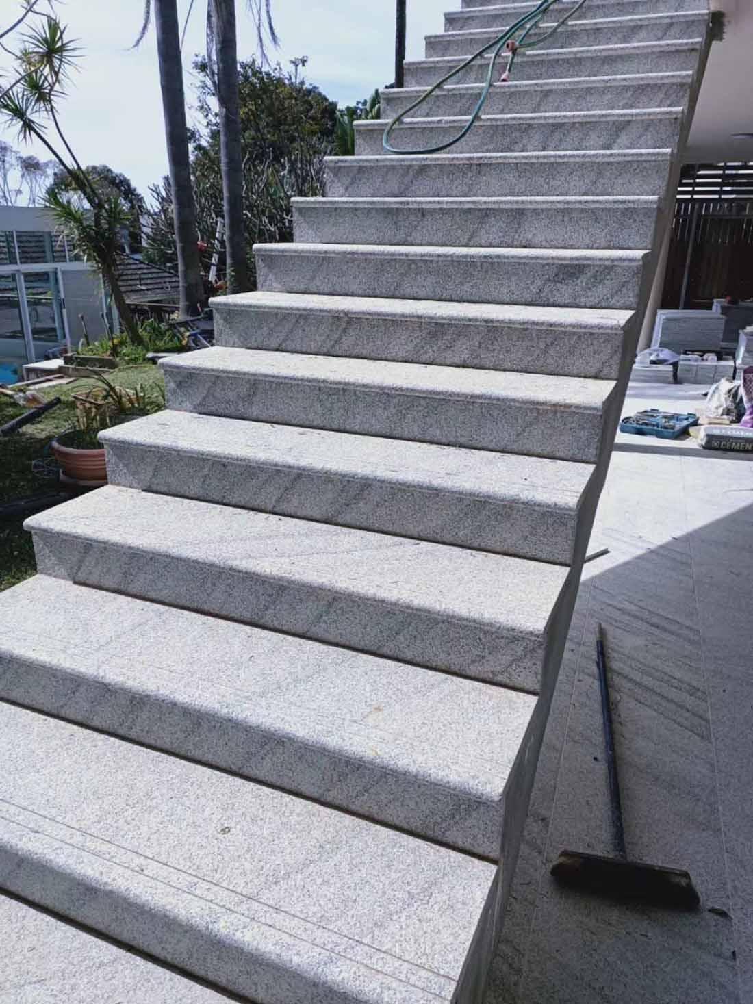 Viscont White Granite Stairs 1