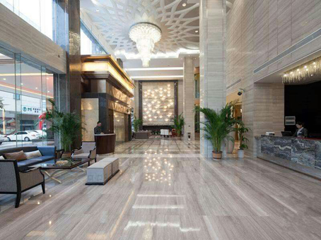 Hotel Project Usage of White Wood Vein Marble