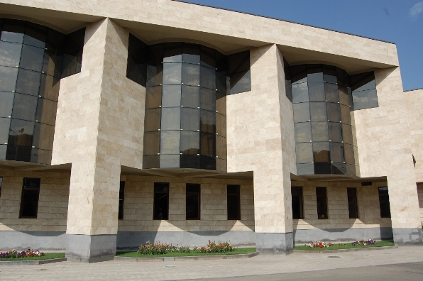 Travertine facade