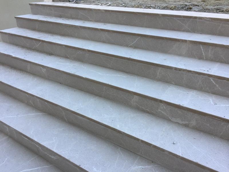 Bushhammered stairs
