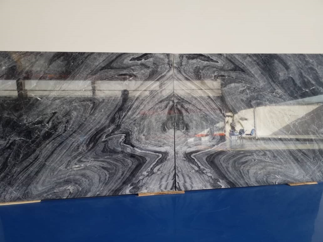 Persian Meteor Grey Marble, book match
