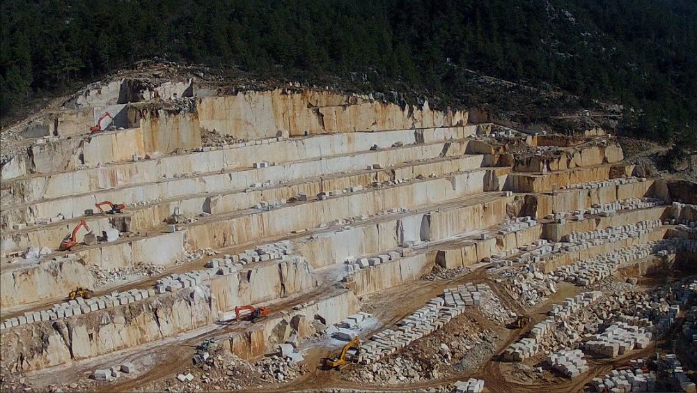 White Limestone Quarry Demre Antalya