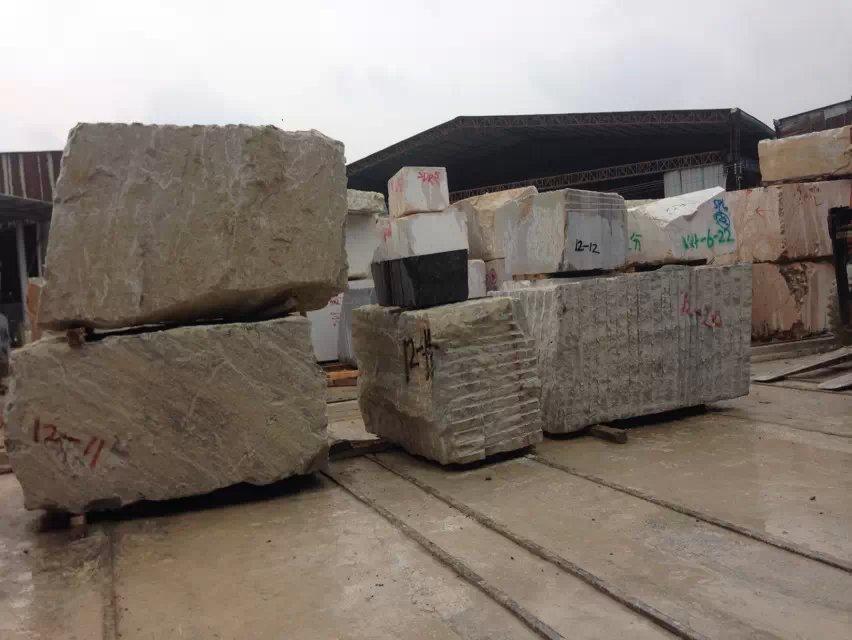 Crystal white wood grain marble