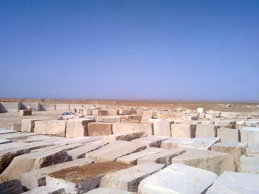 Travertine Quarry of Negin Sang Kavir Co