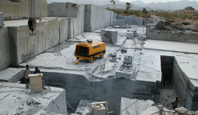 Abu Black Marble Quarry