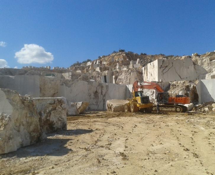 Golden Beige Marble Quarry