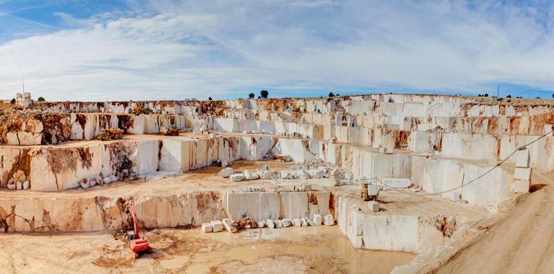 Beige Marble Quarry Stoneadd Photo
