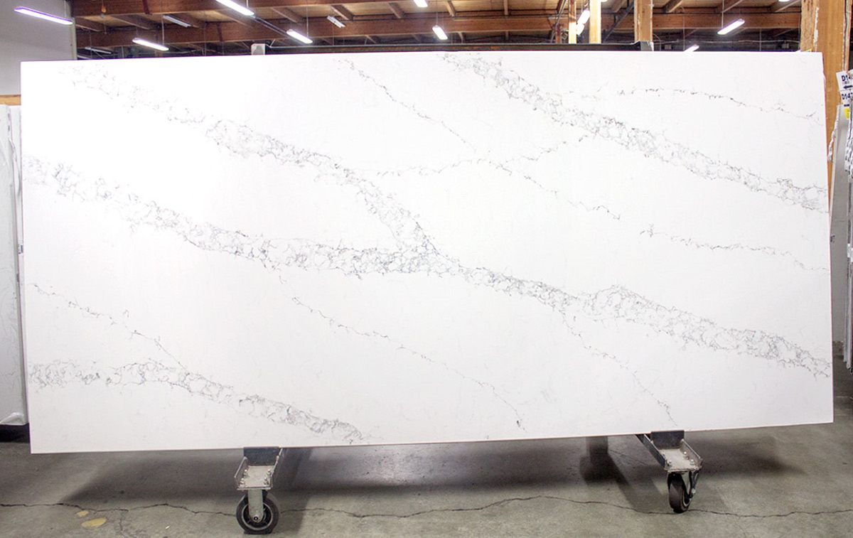 Statuario White Quartz Slabs