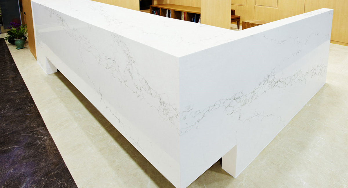 Statuario White Quartz Table Top