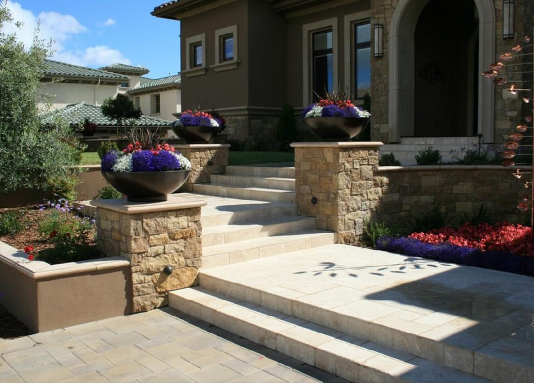 Beautiful Landscaping Design with Stones