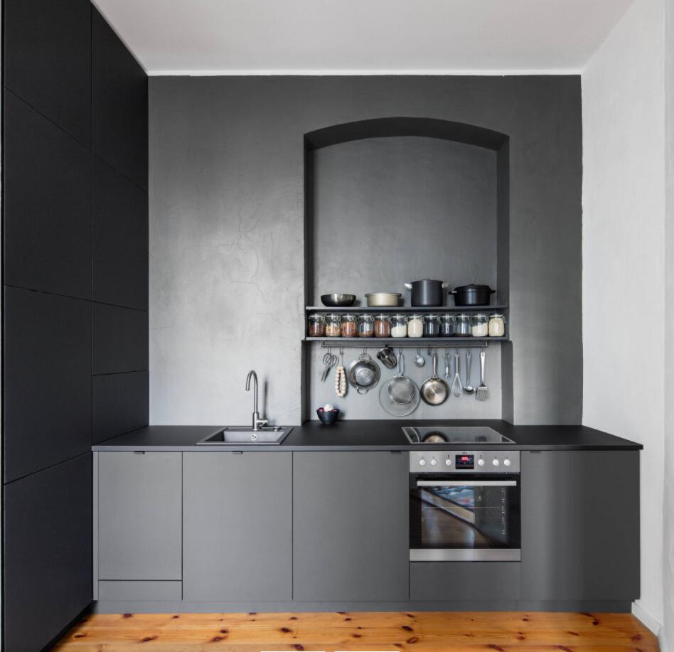 Black Kitchen Quartz Countertops