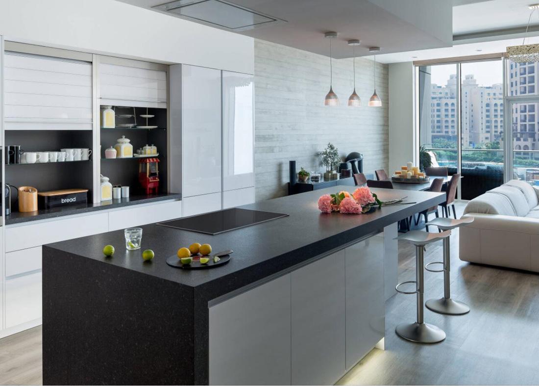 Black Quartz Kitchen Countertops