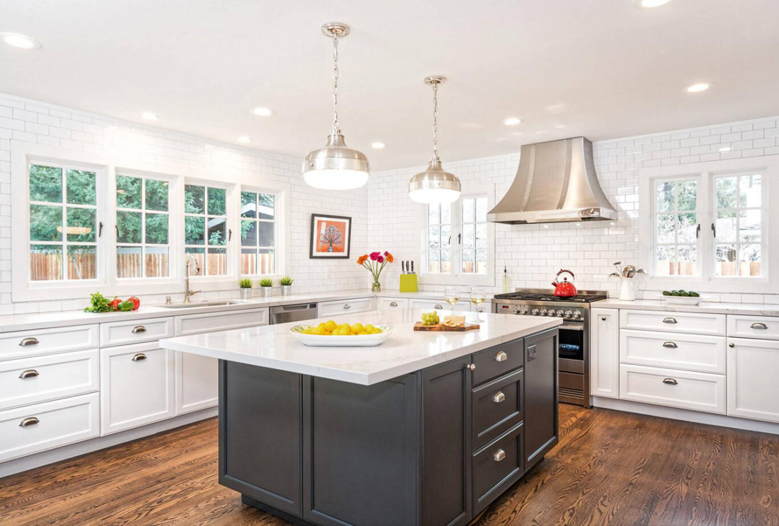 Bright Kitchen with White Countertops