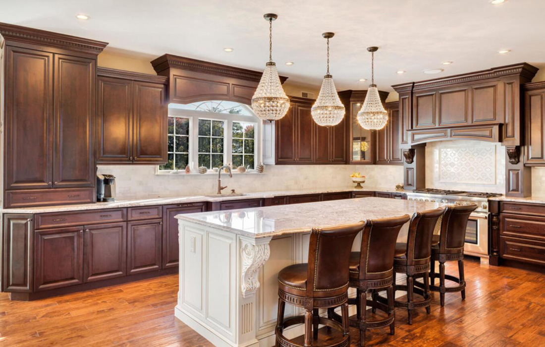 Granite Countertops With Brown Cabinets Stoneadd Photo