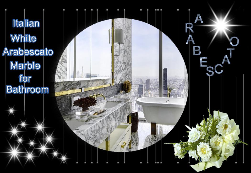 Italian White Arabescato Marble for Bathroom