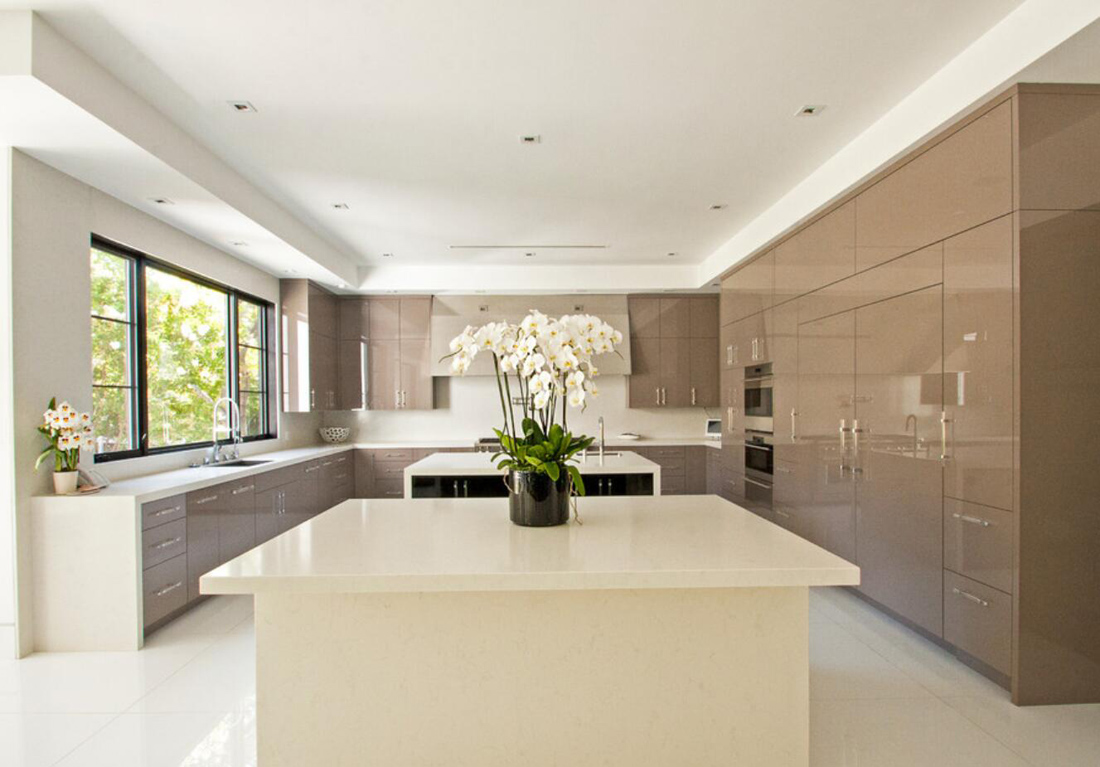 Kitchen Design with Beige Countertops