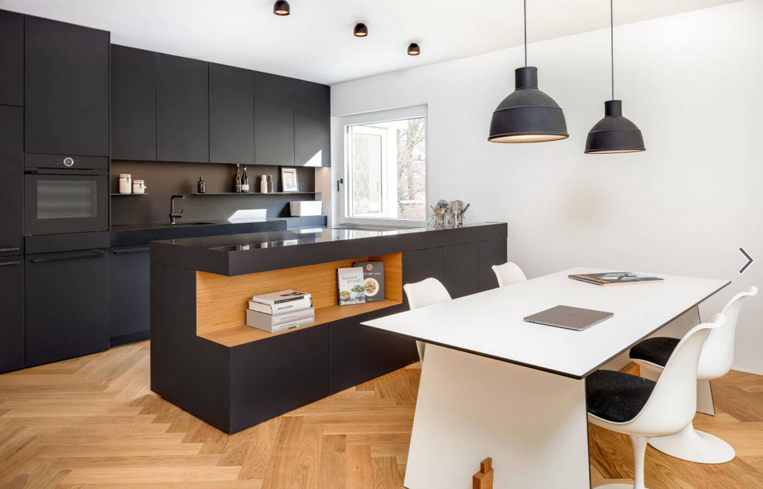 Image of: Kitchen Design With Black Countertops Stoneadd Photo