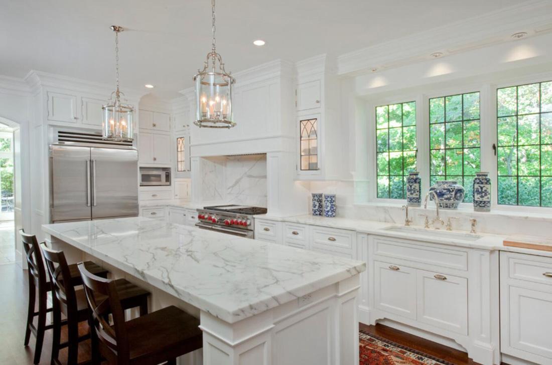 Kitchen White Marble Countertops Stoneadd Photo