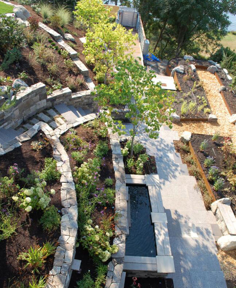 Landscaping Design with Natural Stones