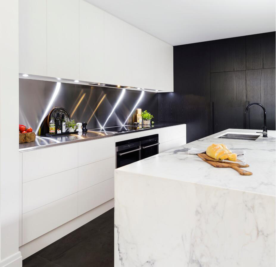 Modern Kitchen With Marble Countertops Stoneadd Photo