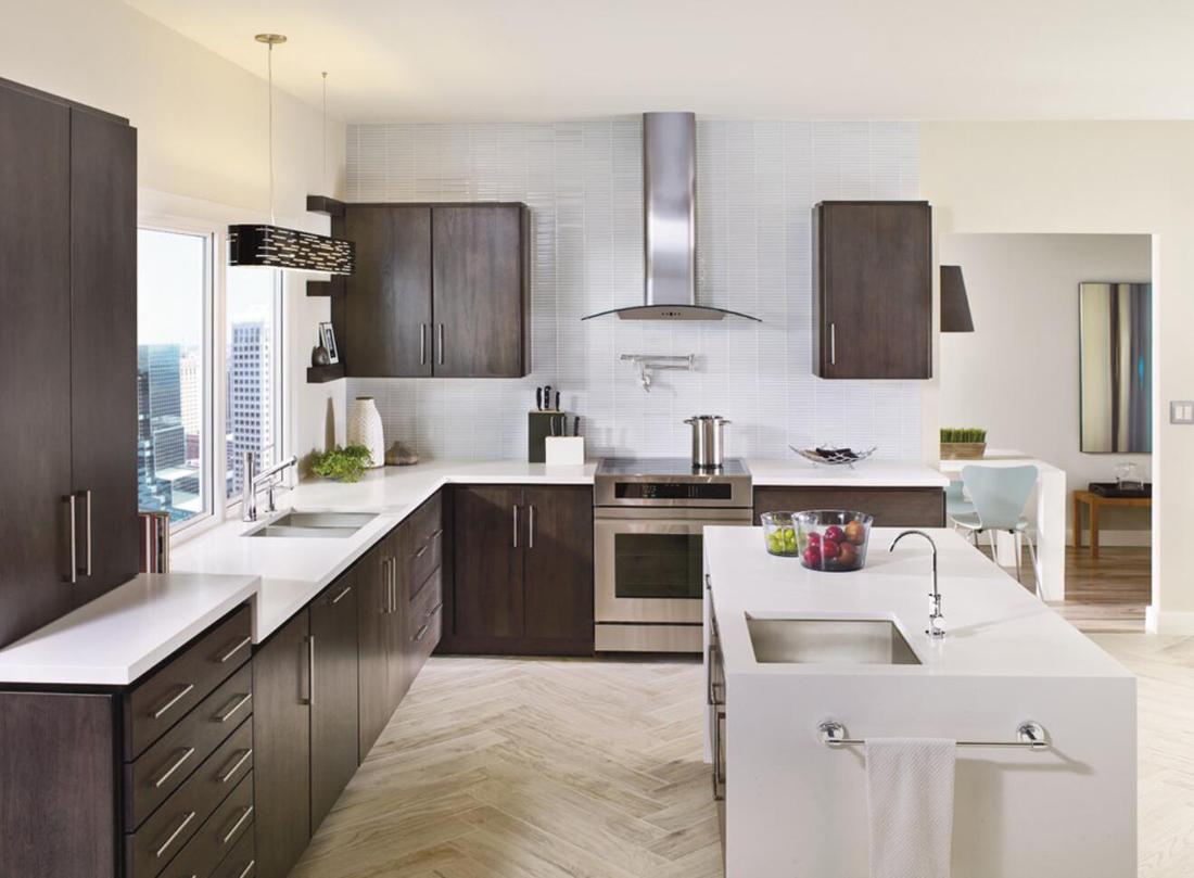 Quartz Modern Kitchen Countertops