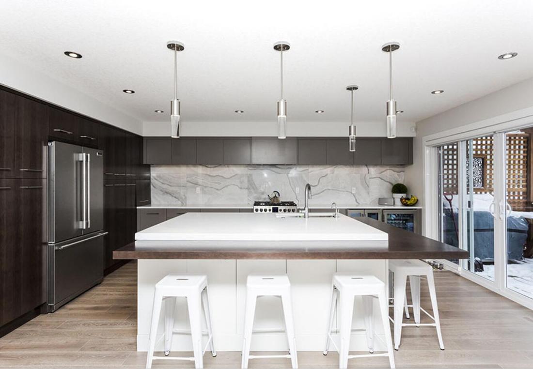 Quartz White Stone Kitchen Countertops