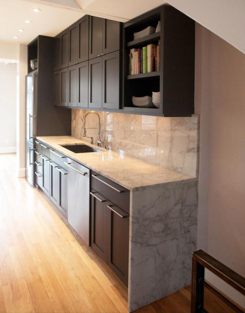 White Marble Stone Kitchen Countertops