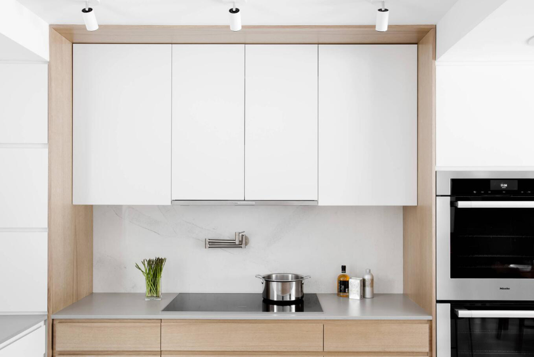 White Quartz Countertops And Light Wood Cabinets Stoneadd Photo