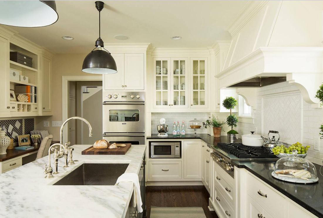 White and Black Countertops